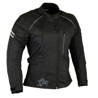 Womens Black Motorcycle jacket