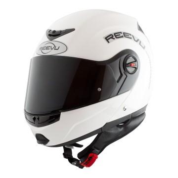 White gloss flip up fullface helmet