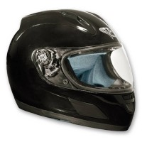 Black gloss Motorcycle helmet