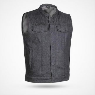Mens Denim Vest Black