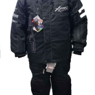 Mens Black Snowmobile Jacket and Pant