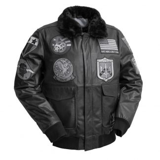 Means Leather Bomber Jacket