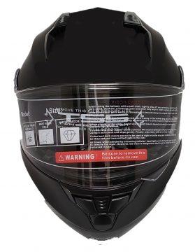 Black motorcycle helmets