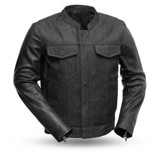Cutlass first manufacturing Denim and Leather jacket