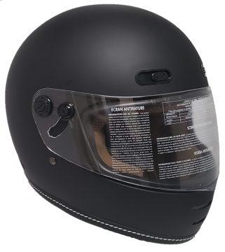 Retro Black matte Motorcycle Helmet