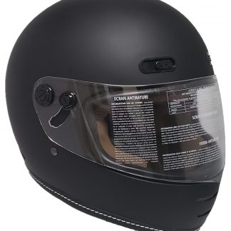 Retro Black matte Motorcycle Helmet